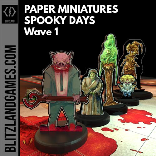 Paper Miniatures - Spooky Days - Wave 1